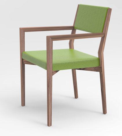 Arco arredo art design in dupont corian sedia legno for Sedia antica con braccioli