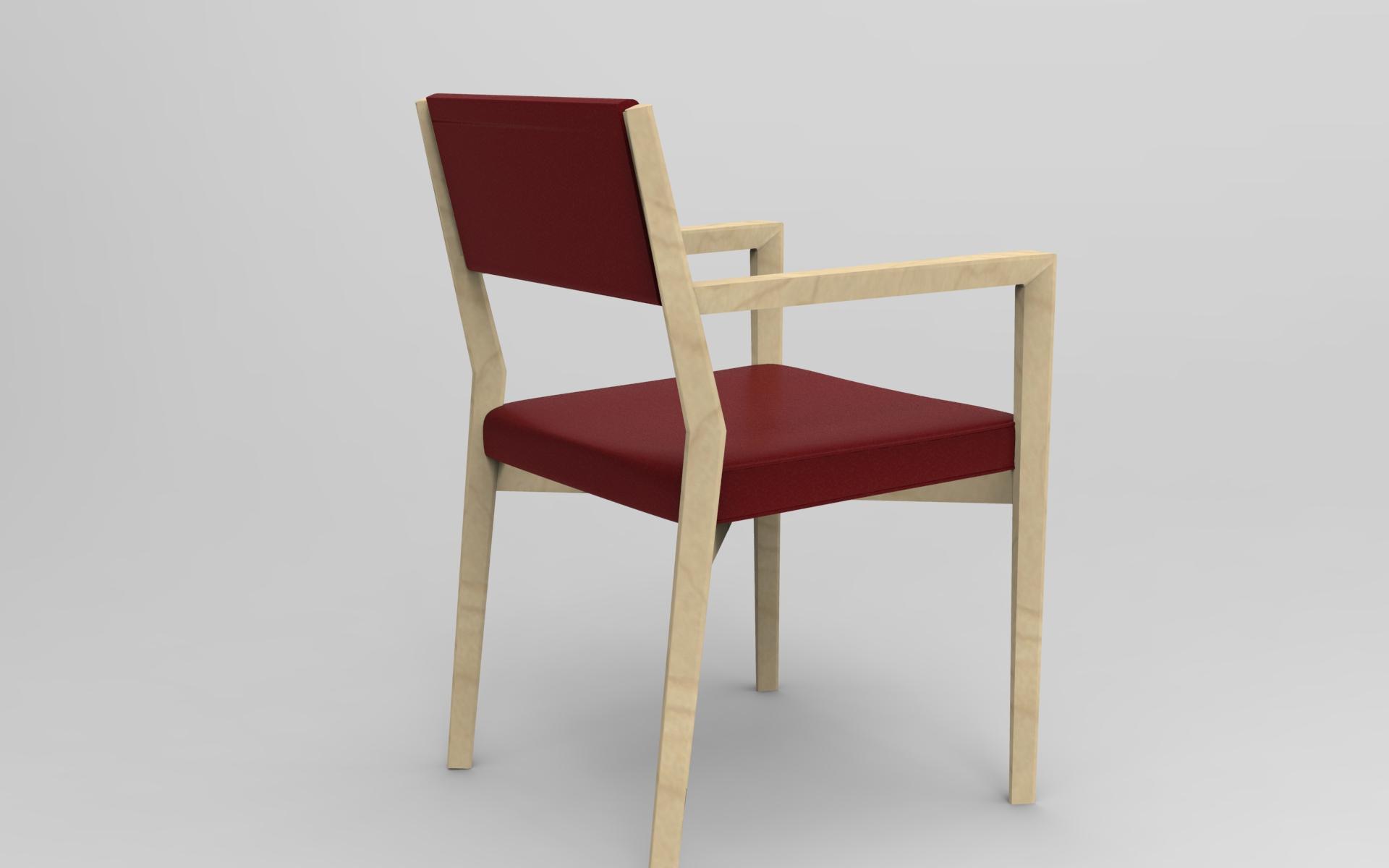 Arco Arredo art & design in DuPont™ Corian® | Sedia legno con braccioli