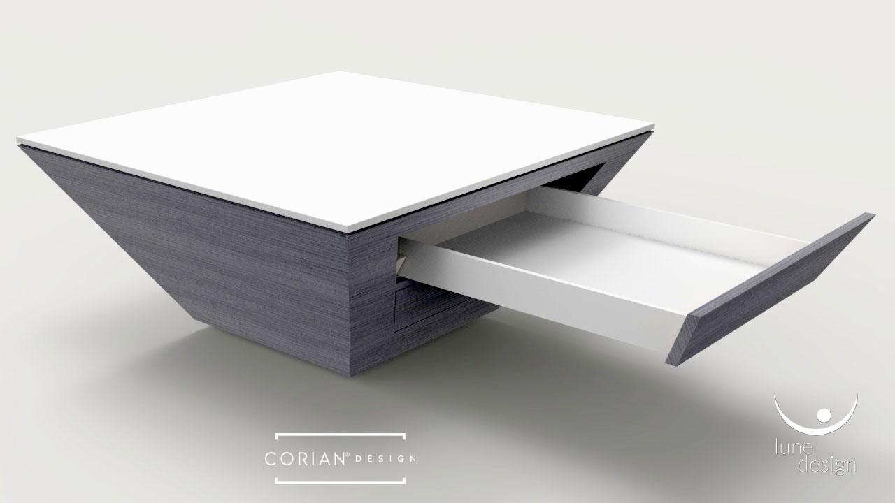 Arco Arredo design in Corian® | Tavolino da soggiorno in ...
