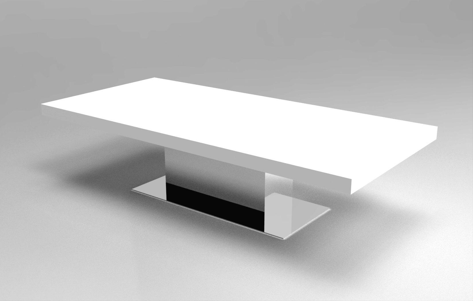 Lune design tavolo 39 amici 39 in dupont corian for Produttori tavoli allungabili