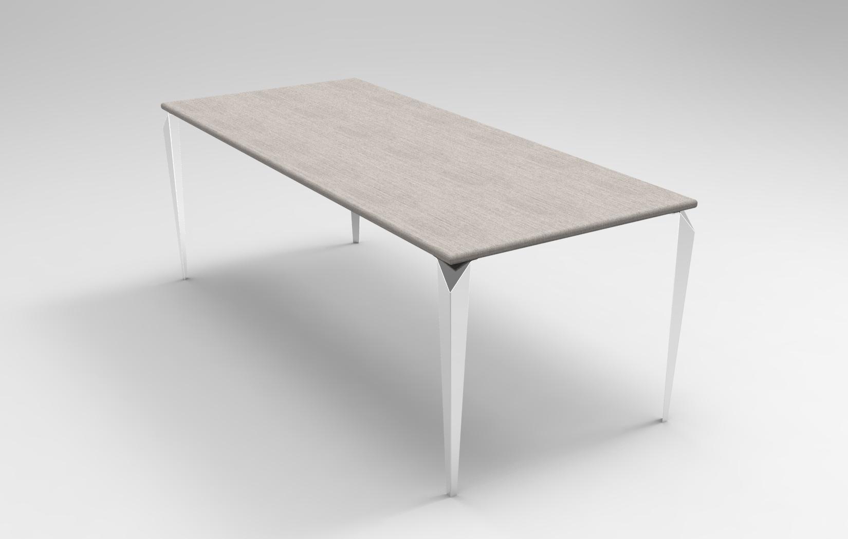 Lune design tavolo in corian velo for Tavolo rovere sbiancato
