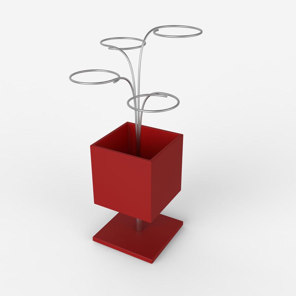 Portaombrelli A Fiore.Lune Design Portaombrelli In Dupont Corian C Piovono Fiori