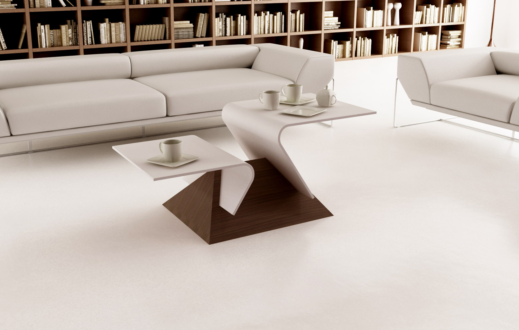 Lune design tavolino da caffe 39 39 virgola 39 Salon moderne bois