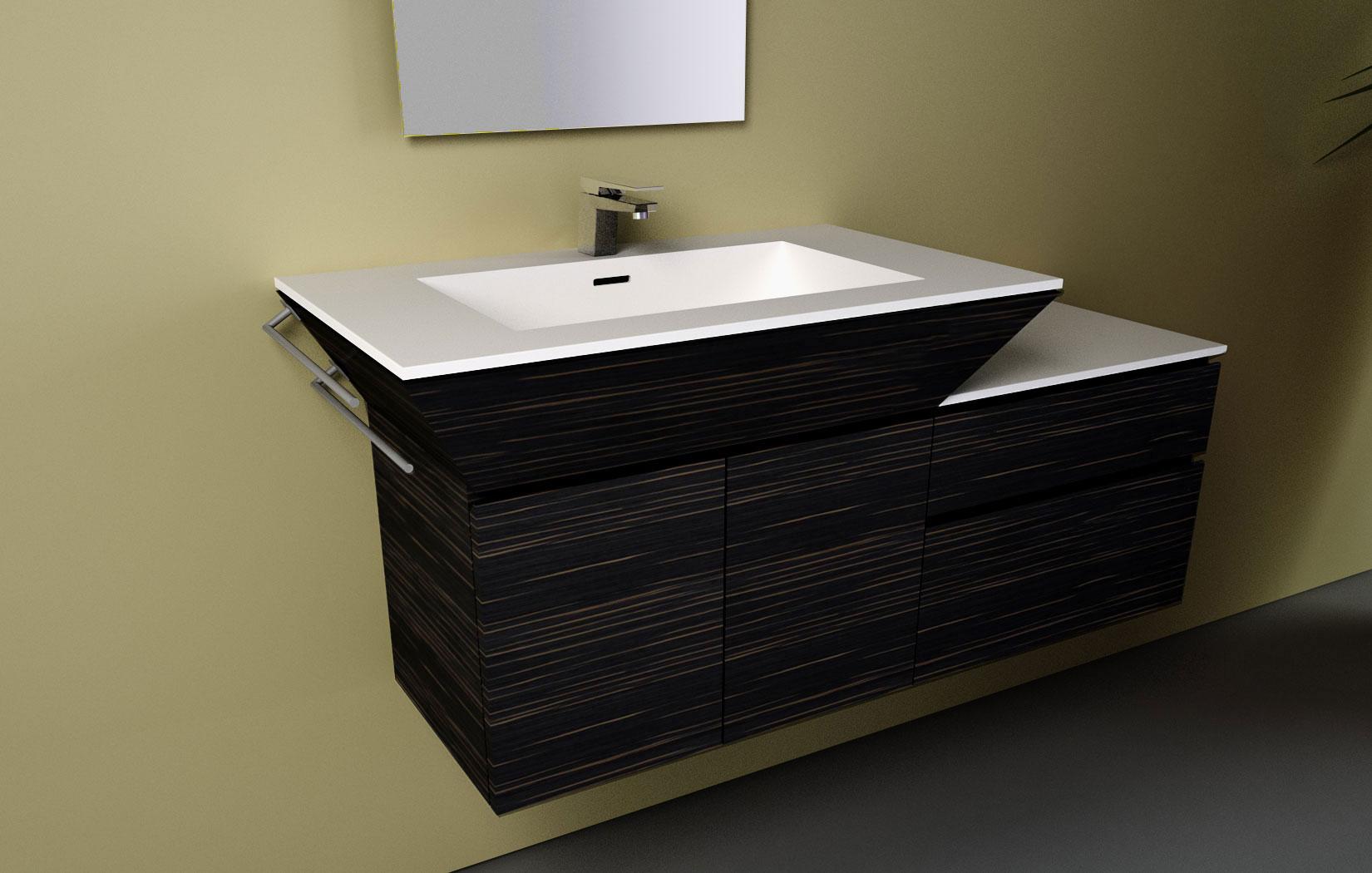 lune design - lavabo da bagno 'refin' - Lavabo Bagno In Corian Prezzi