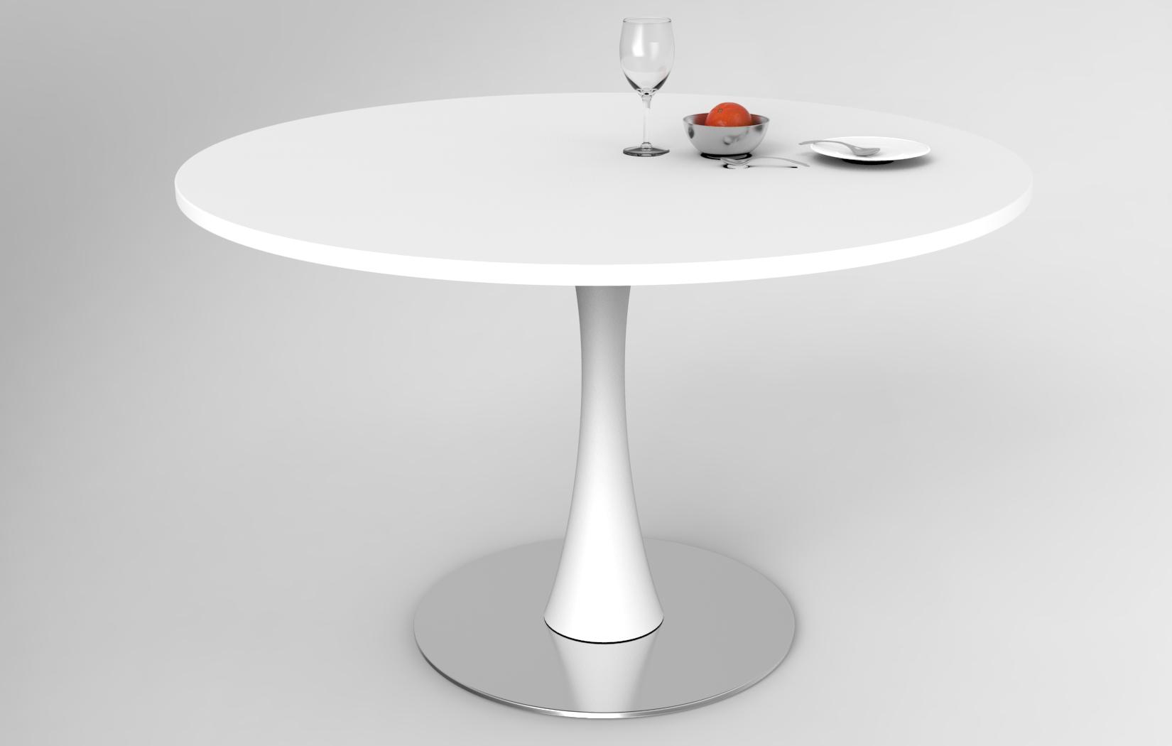 Lune design tavolo in corian 39 egos 39 for Tavolo rotondo bianco economico