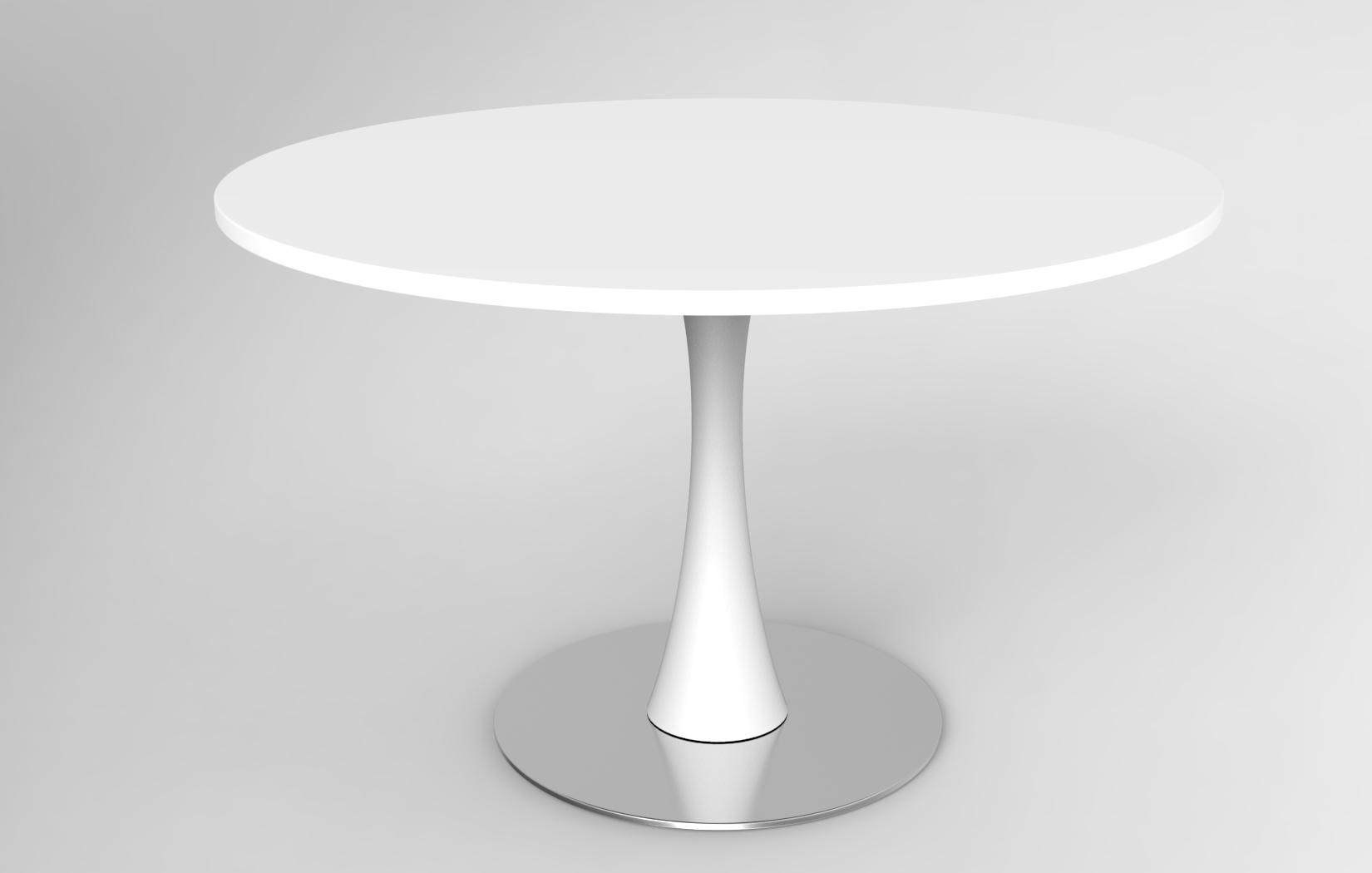 Tavolo Tondo Laccato Bianco.Lune Design Tavolo In Corian C Egos