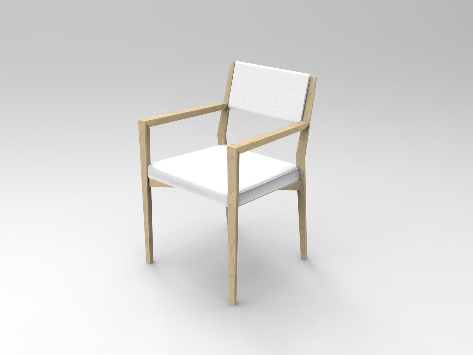 Sedia con braccioli Tavolo Air in legno