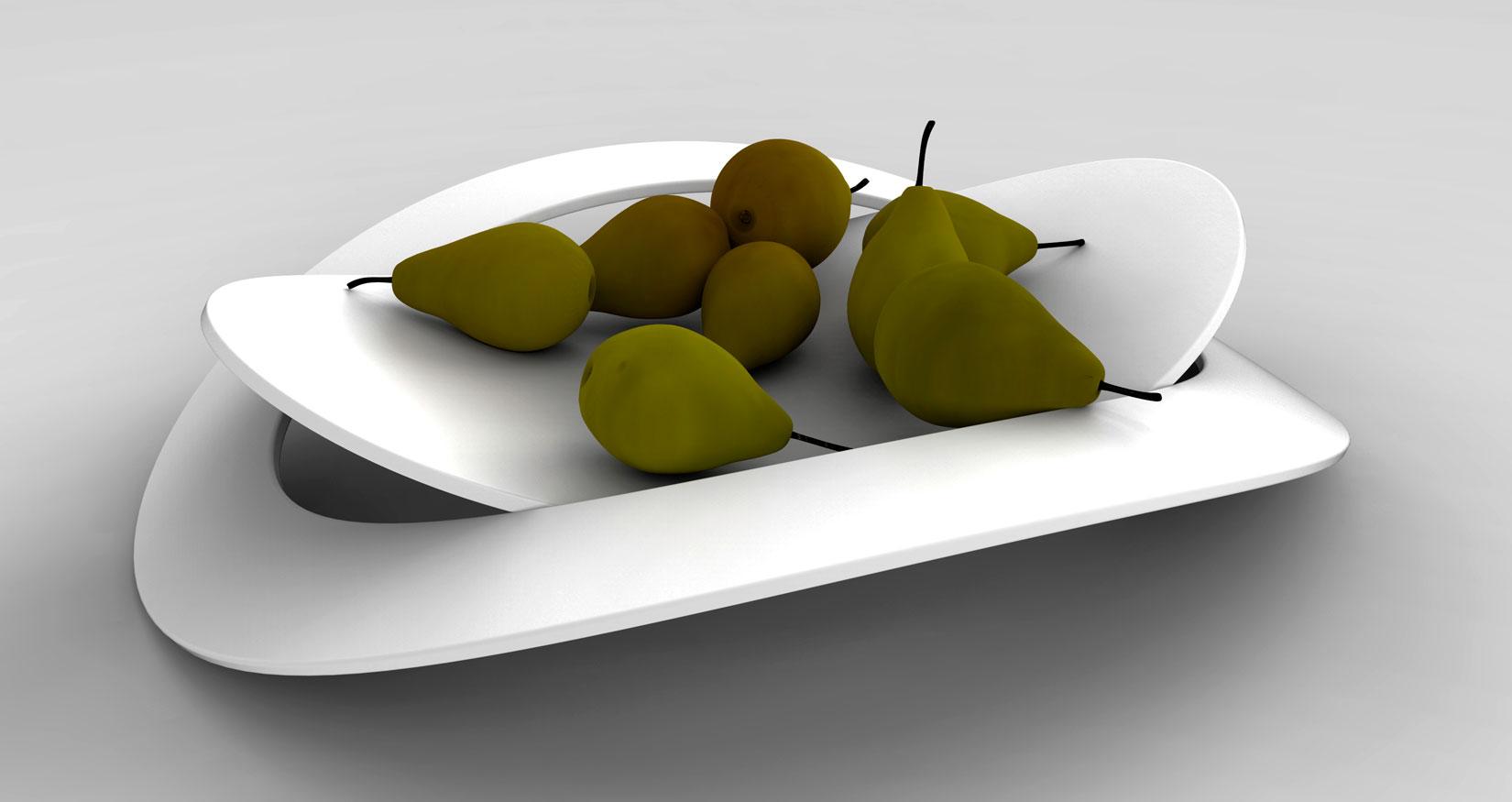 Lune design centrotavola 39 disco lunare 39 piatto porta for Centrotavola design moderno