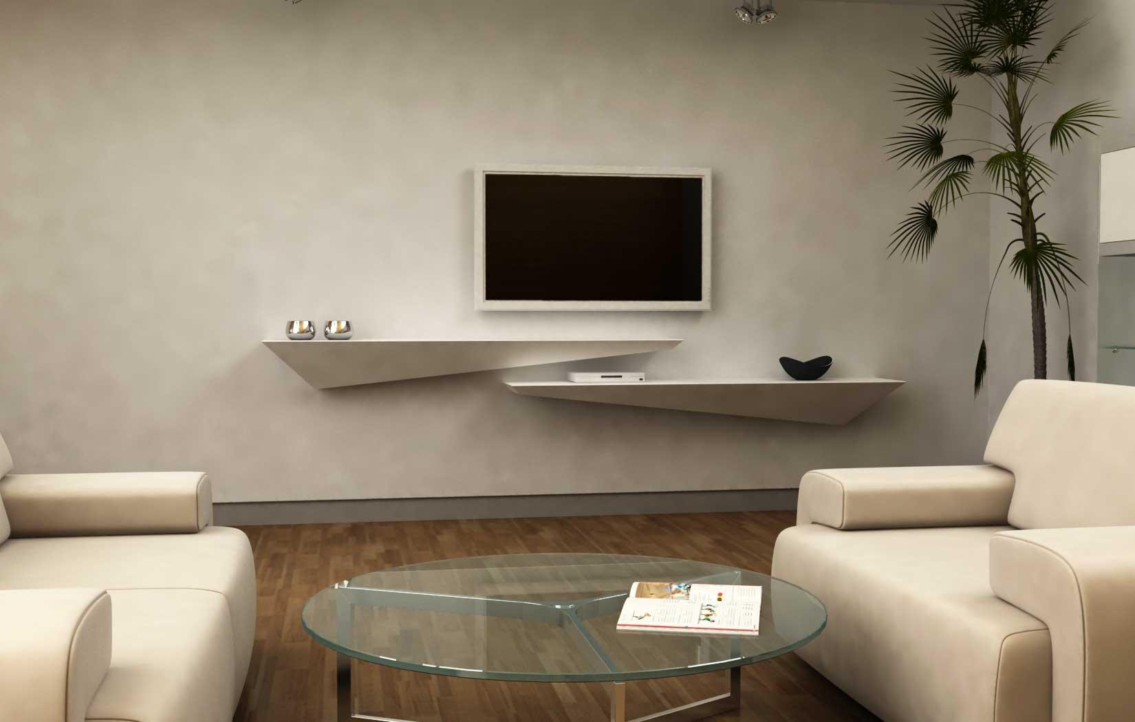 Lune Design - \'TZENO\' Mensola a muro in corian e legno