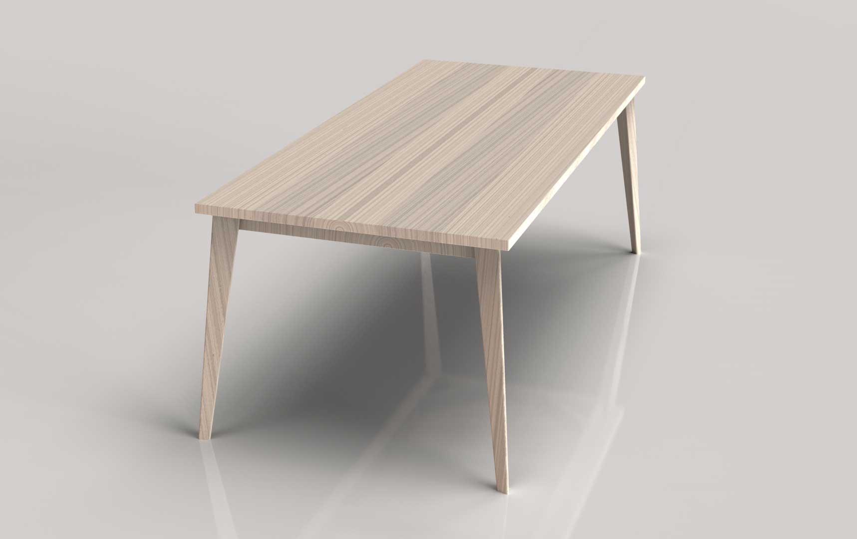 Legno Naturale Sbiancato : Lune design tavolo air legno faggio sbiancato e spazzolato