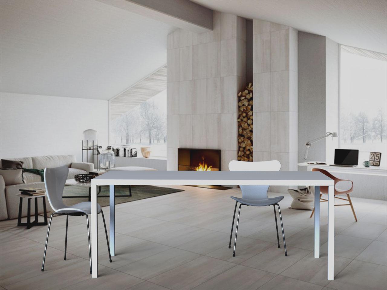 Lune design tavolo 39 sorrento 39 con piano in corian for Azienda soggiorno sorrento
